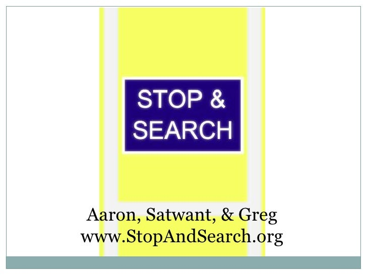 Stop and Search 17 June 2010