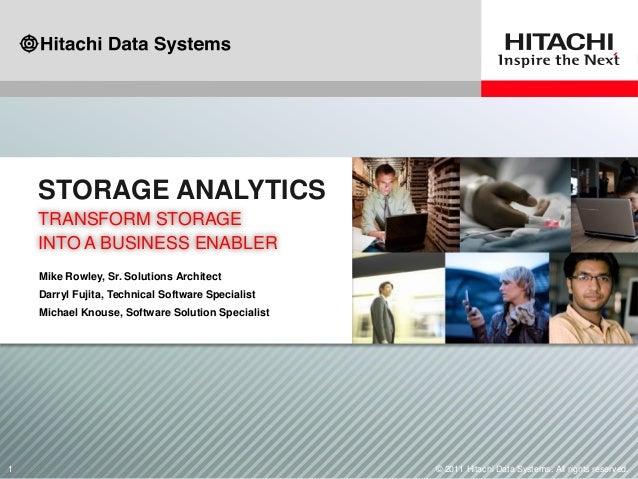 Storage Analytics: Transform Storage Infrastructure Into a Business Enabler