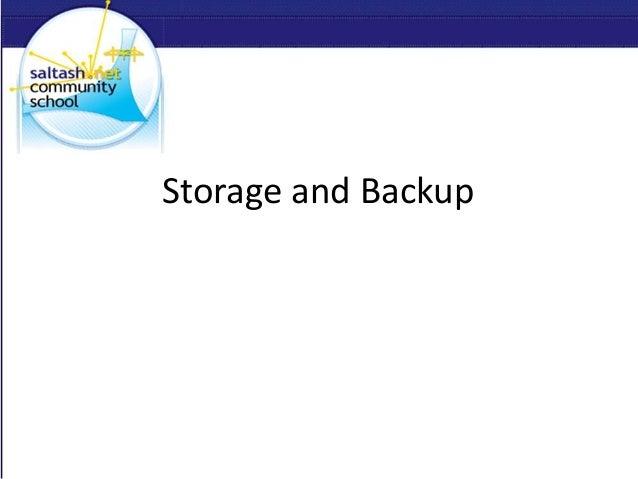 Storage and Backup