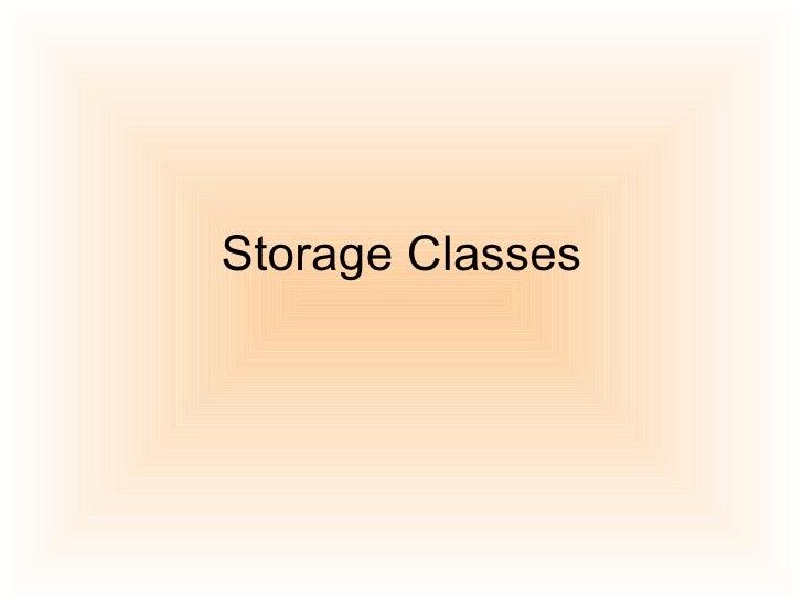Storage Classes