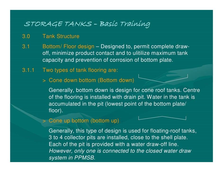Basic Training Drawing Storage Tanks – Basic
