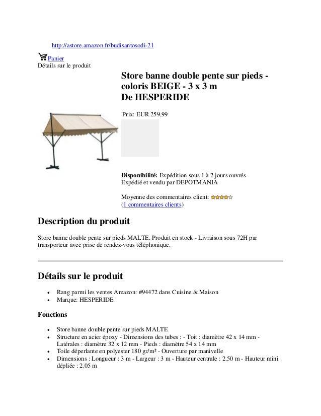 store banne double pente sur pieds coloris beige 3 x 3 m. Black Bedroom Furniture Sets. Home Design Ideas