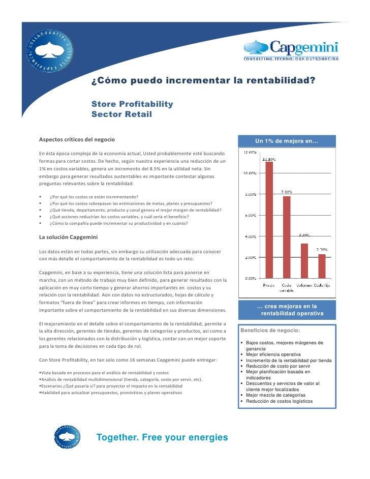 ¿Cómo puedo incrementar la rentabilidad?                             Store Profitability                            Sector...