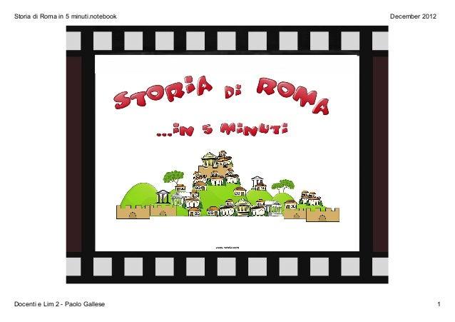 Storia di roma in 5 minuti