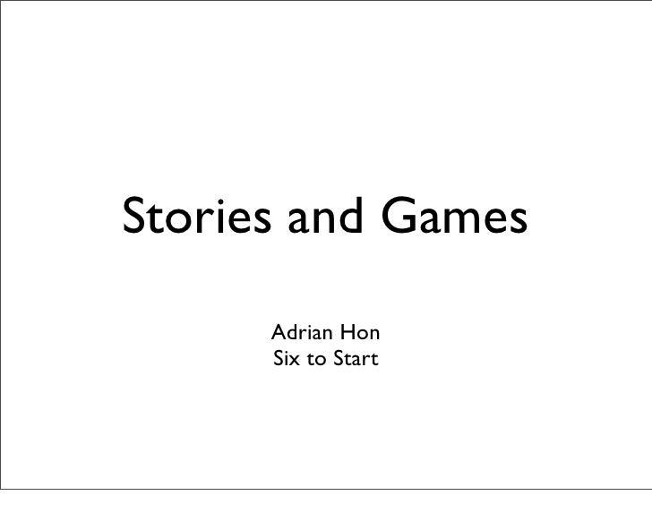 Stories and Games at Barcamp Brighton