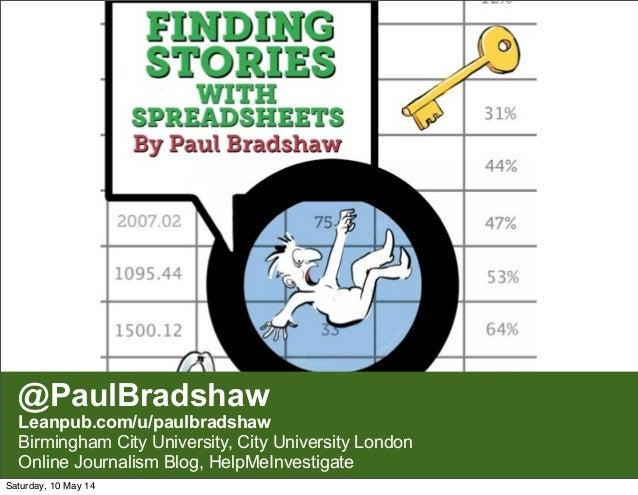 @PaulBradshaw Leanpub.com/u/paulbradshaw Birmingham City University, City University London Online Journalism Blog, HelpMe...