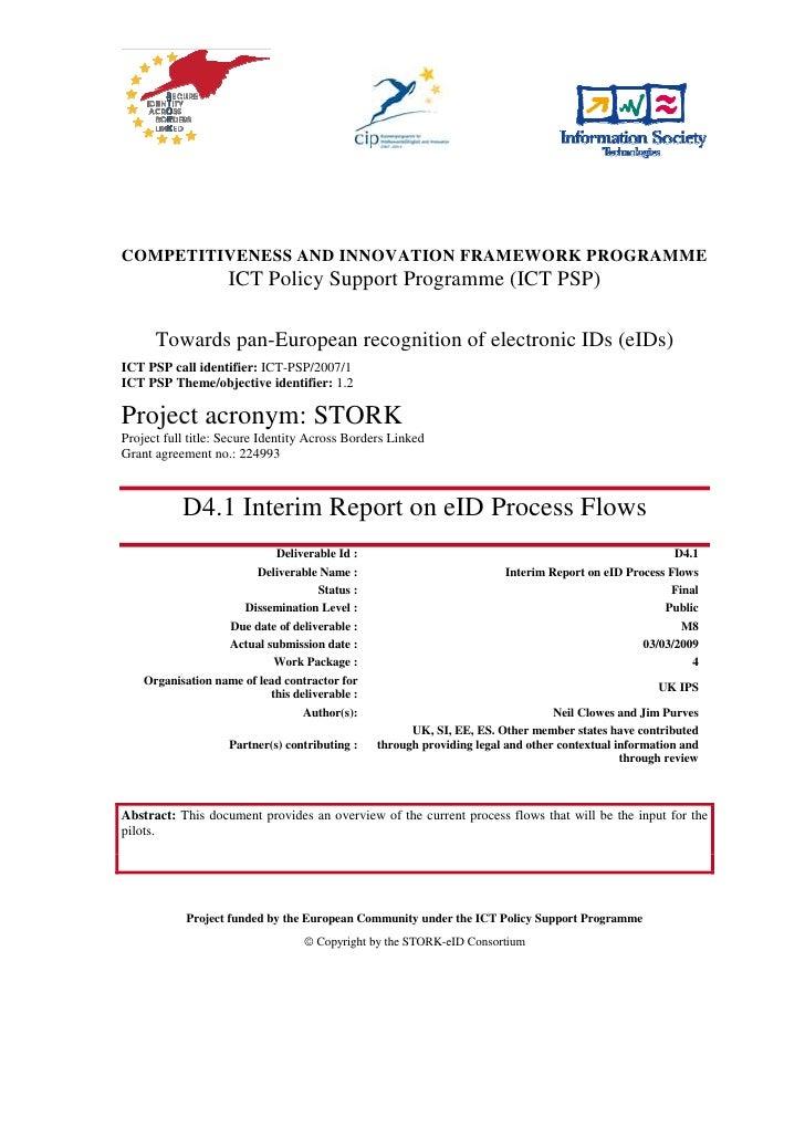 Stork Deliverable D4.1   Interim Report On E Id Process Flows