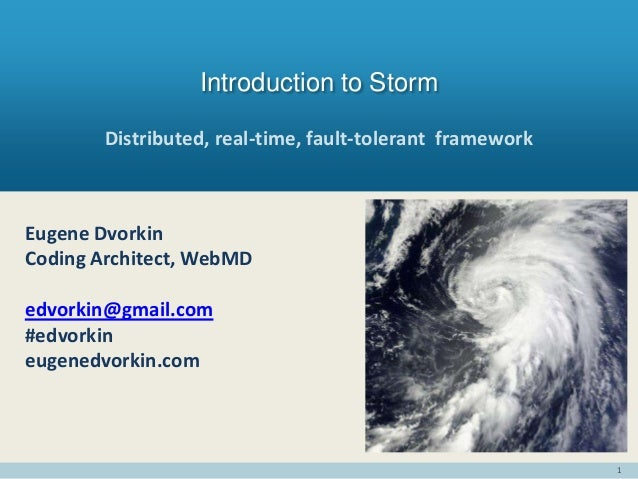 Introduction to Storm