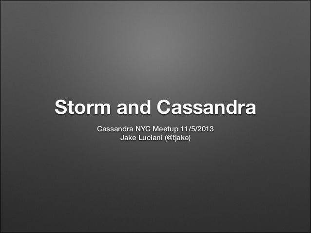 Storm and Cassandra