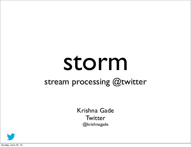 storm at twitter