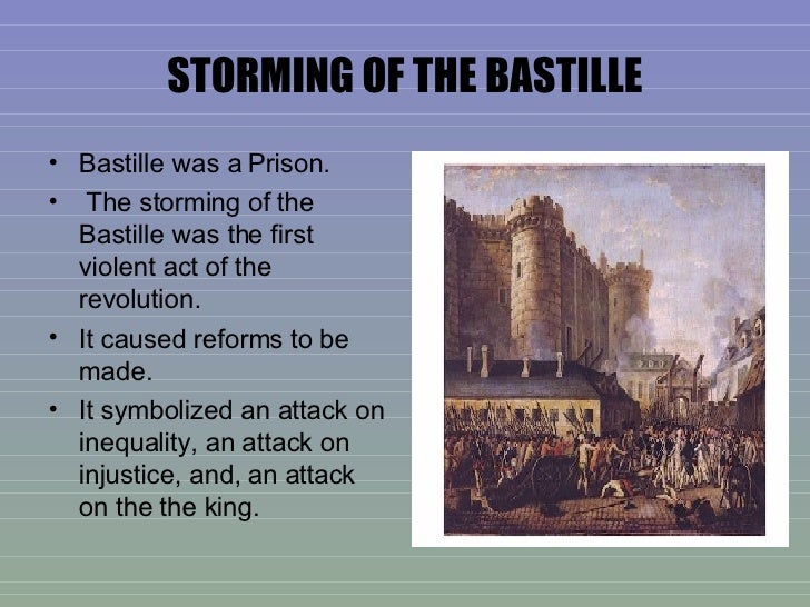 the storming of the bastille The day after a parisian mob had stormed the king louis' fortress of la bastille, he asked the duke of la rochenfoucauld whether a revolt had happened in the city.
