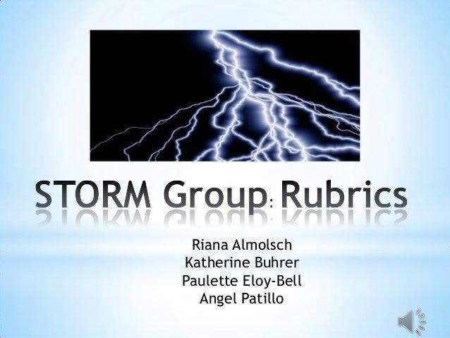 Storm rubrics presentation