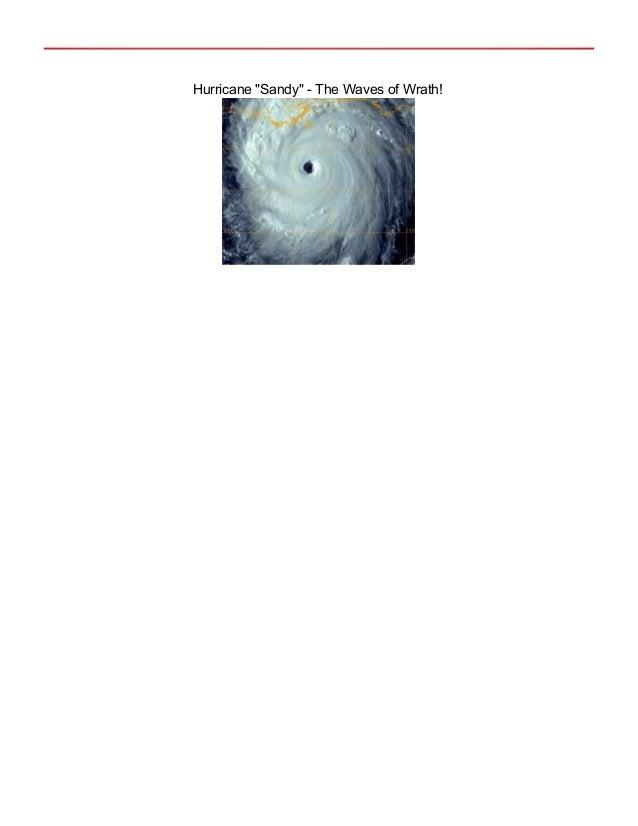 "Hurricane ""Sandy"" - The Waves of Wrath!"