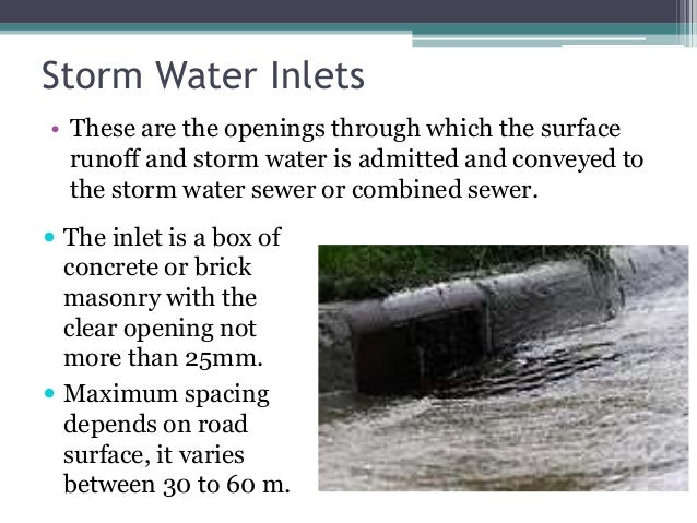 Image gallery stormwater inlet for Types of drainage system pdf