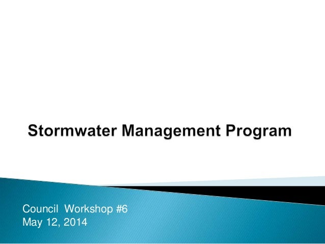 Stormwater Management Program
