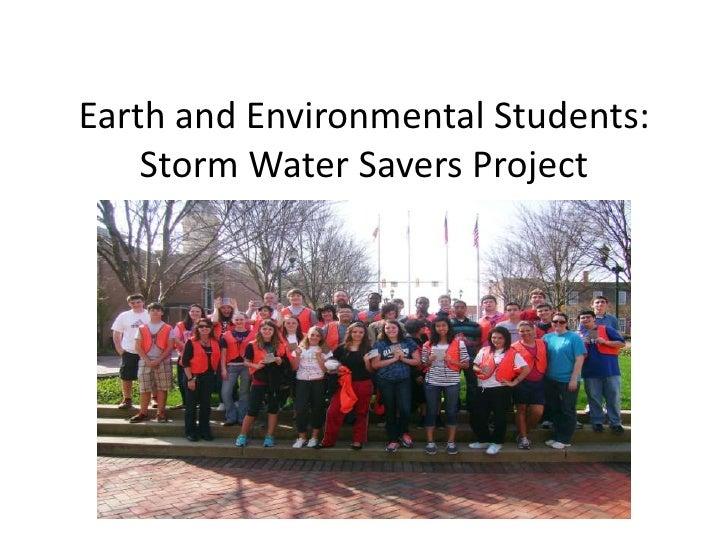 Storm water savers