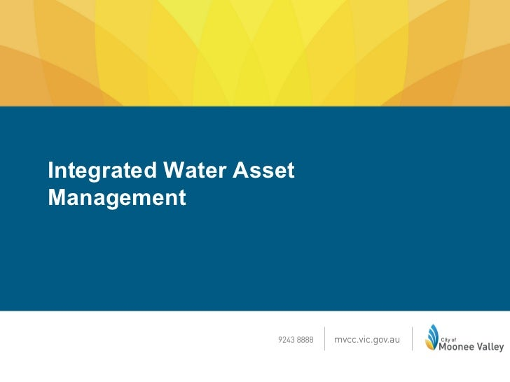 Moonee Valley City Council Stormwater Asset Management Aug 2012