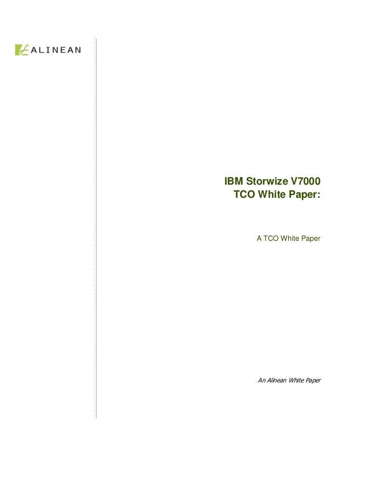 Storwize V7000 Solution Tco White Paper Alinean
