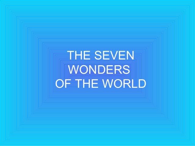 Story   seven wonders