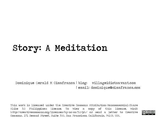 Story a meditation