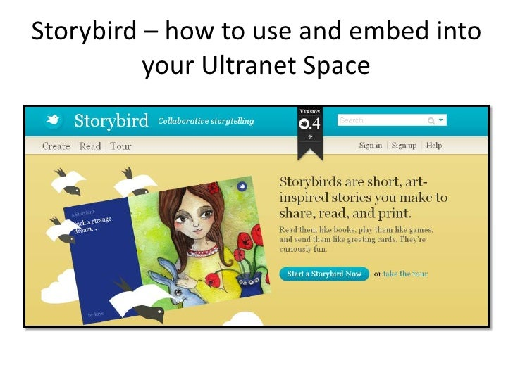Storybird – how to use and embed into your Ultranet Space<br />