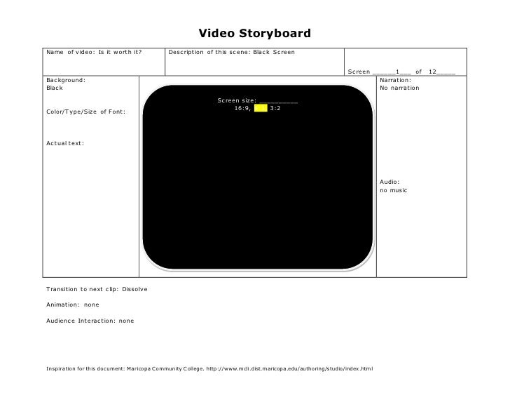 Video StoryboardName of video: Is it worth it?               Description of this scene: Black Screen                      ...
