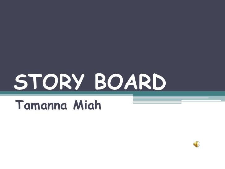 STORY BOARDTamanna Miah