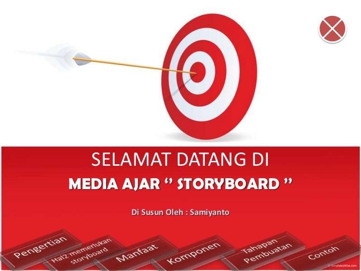 SELAMAT DATANG DIMEDIA AJAR '' STORYBOARD ''       Di Susun Oleh : Samiyanto