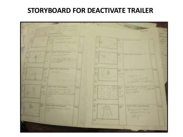STORYBOARD FOR DEACTIVATE TRAILER