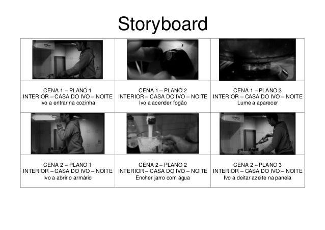 StoryboardCENA 1 – PLANO 1INTERIOR – CASA DO IVO – NOITEIvo a entrar na cozinhaCENA 1 – PLANO 2INTERIOR – CASA DO IVO – NO...