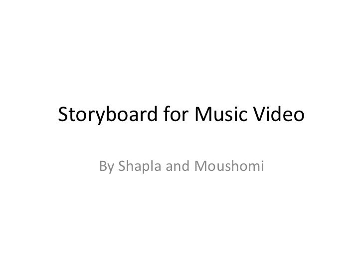 Storyboard for music video
