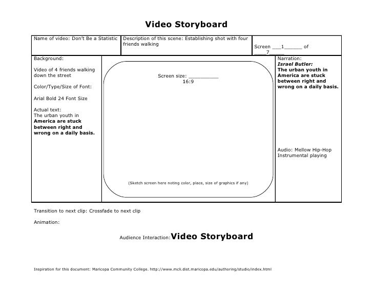 FMP Storyboard - Don't Be a Statistic