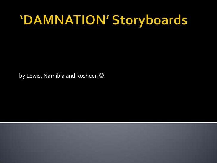Horror movie trailer Storyboards