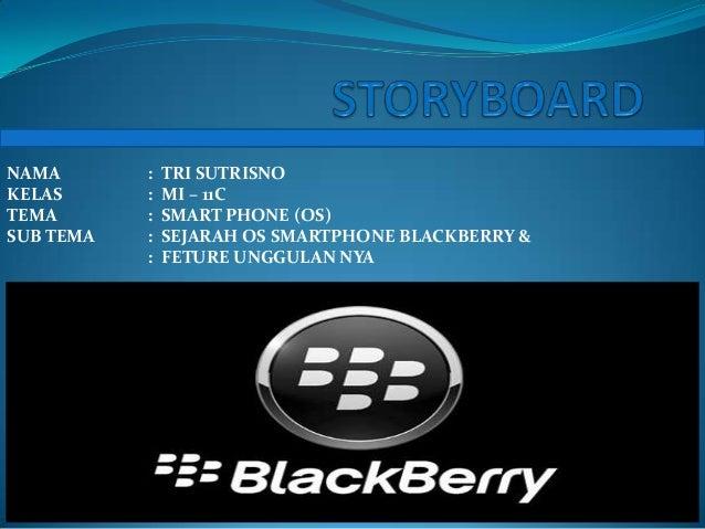 NAMA       :   TRI SUTRISNOKELAS      :   MI – 11CTEMA       :   SMART PHONE (OS)SUB TEMA   :   SEJARAH OS SMARTPHONE BLAC...