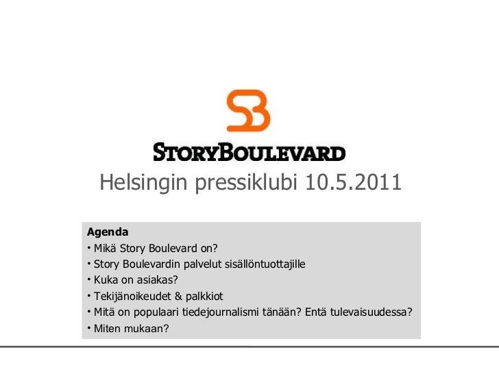 Story Boulevardin tilaisuus 10052011