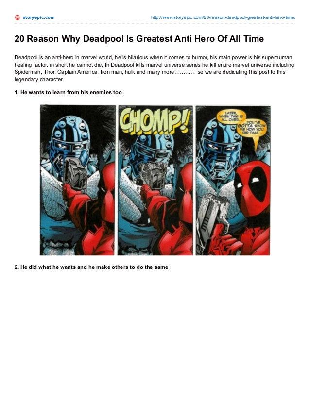 Characteristics of an antihero