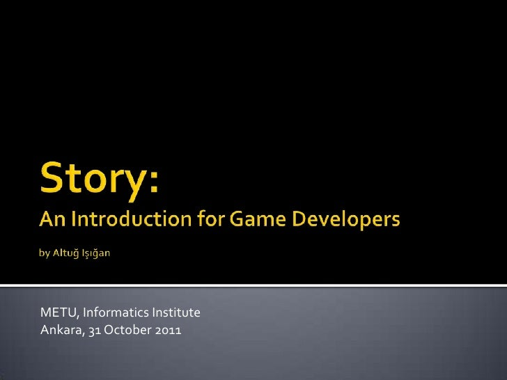 Story for game developers