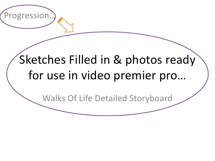 Sketches Filled in & photos ready for use in video premier pro…<br />Progression…<br />Walks Of Life Detailed Storyboard<b...