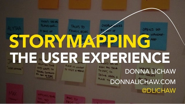 STORYMAPPING THE USER EXPERIENCE DONNA LICHAW DONNALICHAW.COM 