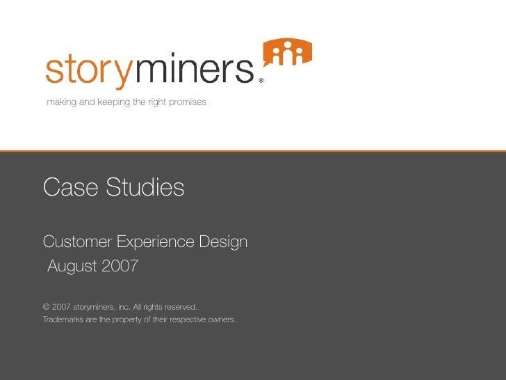 Customer Experience Design Case Studies Soho Hero 2007