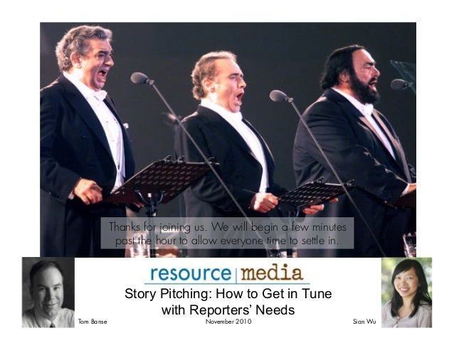 Story Pitching: Get in Tune with Reporters' Needs