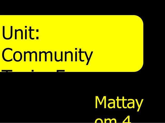 Unit:CommunityTopic: Famouspeople     Mattay