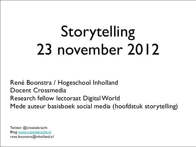 Storytelling gastcollege 23_november