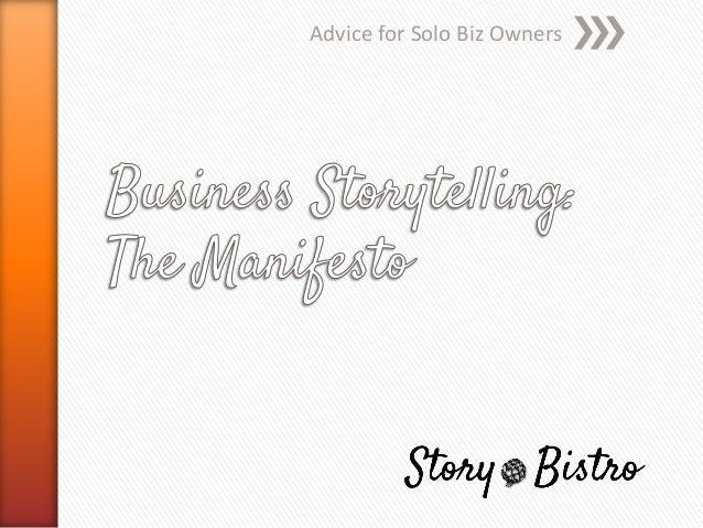 Business Storytelling Manifesto