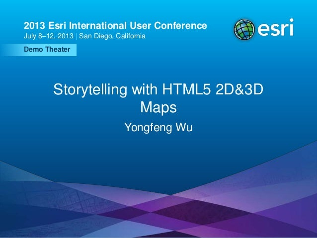 Storytelling with html5 2d&3d maps