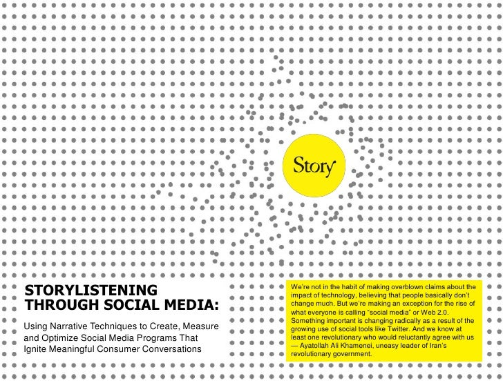 Story Listening Through Social Media eBook - Story Worldwide