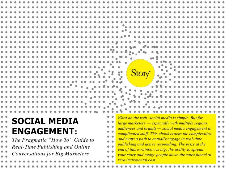 Word on the web: social media is simple. But for SOCIAL MEDIA                      large marketers — especially with multi...