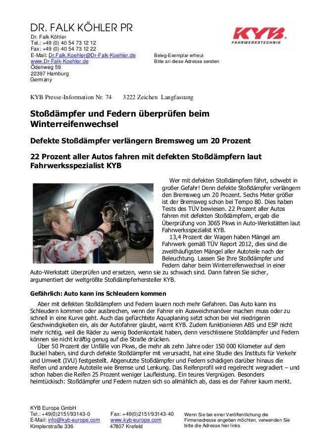DR. FALK KÖHLER PR Dr. Falk Köhler Tel.: +49 (0) 40 54 73 12 12 Fax: +49 (0) 40 54 73 12 22 E-Mail: Dr.Falk.Koehler@Dr-Fal...