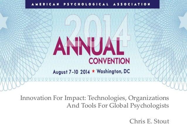 APA 2014 Invited Plenary
