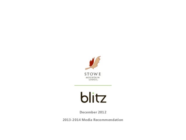 December 20122013-2014 Media Recommendation